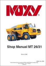 Moxy MT26 MT31 Articulated Dump Truck Paper Shop Manual (0191)