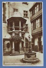 g Frankfurt vor 1930 #176 Wendeltreppe im Römerhof 28.2.1929