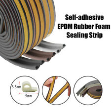 Self Adhesive EPDM Rubber Door Draught Excluders Sealed Weather Stripping P Type