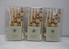 NEW 2007 Martha Stewart Lot Of 3 Lustrous Finery Pink Pearl Xmas Garland 6 Ft