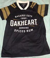 Bacardi Oakheart Rum Sports Jersey - Women's Small - Black - NEW