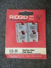 Ridgid 12 Pipe Threader Replacement Die Set 12 R 00 R 111 R O R 11 R 30a 31a