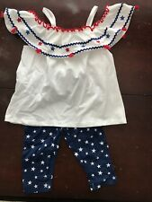 Freestyle 2T Girls Red, White, Blue 2-PC Outfit