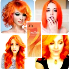 BERINA A19 Hair Color Goden Orange Permanent Hair Dry Cream Fashion Style 60 ml