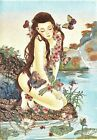 """Gem Stone Painting """" Nude Lady & Butterflies """"   Handmade Collectible Wall Decor"""