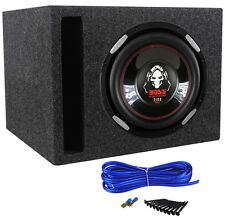 "Boss Audio P106DVC PHANTOM 10"" 2100w DVC Car Subwoofer+Vented Sub Box Enclosure"