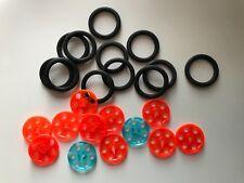 24 LEGO pièces - 12 Wedge-Courroie Roue Ø24 6062324, 12 x Pneu pour Wedge-Ceinture roue