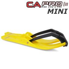 "C&A Pro MINI 4.75"" Snowmobile Skis Yellow w/ Black Loops - 120 Watercross Drags"