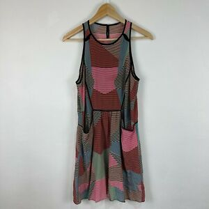 Paul & Joe Silk Dress 34 Au 8 Multicoloured Striped Sleeveless Round Neck France