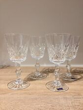 4 Edinburgh Cut Crystal Wine Glasses 2 With Original Stickers Others Used Once