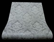5006-31-3) 1 Rolle edle Vinyltapete  BAROCK ORNAMENT Design grau mit Glanz