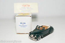 DURHAM DC-15C 15 C FORD TOP DOWN CONVERTIBLE DARK GREEN 1941 MINT BOXED