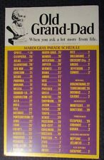 1984 OLD GRAND DAD Mardi Gras Parade Schedule 14x22 Placard FN+ 6.5 New Orleans