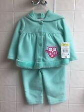 Swiggles Mint Green 0/3 Months Newborn Girls Infant Owl 2 pcs