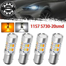 4x 1157 Dual Color Switchback 5730 6000k White Amber Led Tail Brake Light Bulbs Fits Mazda Cx 7