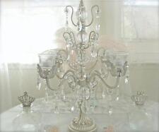 Hamptons Silver Candelabra Decoration Wedding Christmas Display Stand Crystals