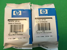HP 63 Black Color-Original setup Ink Cartridge for HP 3632 4650 printer-GENUINE