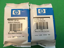 HP 63 Black Color-Original Ink Cartridge Combo for HP 3632 4650 printer-GENUINE