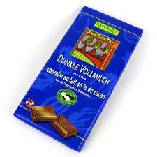 (20,50/kg) 6x Rapunzel Vollmilch Schokolade Dunkel 46% Kakao HiH bio 100 g