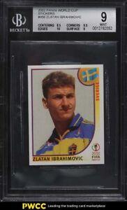 2002 Panini World Cup Stickers Zlatan Ibrahimovic ROOKIE RC #456 BGS 9 MINT