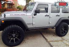 Fuel Coupler D556 20x10 Wheels 5x127 Black Machined -24offset Jeep (Set of 5)