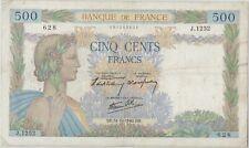 500 FRANCS LA PAIX - 31.10.1940 - Billet de banque français (TTB)