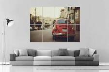 VOLKSWAGEN BEETLE RED VINTAGE Wall Poster Grand format A0 Large Print