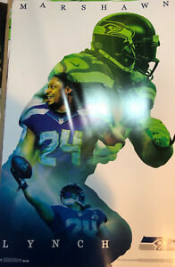 MARSHAWN LYNCH Seattle Seahawks 2014 NFL Football Official WALL POSTER