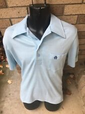 1970's Blue Polo Shirt by Montgomery Ward Large