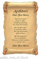 """Personalised A4 Jobs Beginning With """"A"""" Poem Scroll Gift Various Designs - Job"""