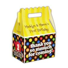 M&M's Candy Party Personalized Gable Favor Boxes, pack of 8