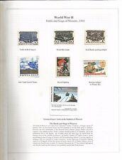 Arcade 99p une belle WW2 BATAILLE & siège de Moscou 1941 menthe/utilisé Page d'album