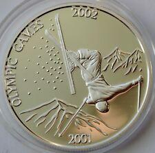 LAO 1000 Kip 2001, Winter Olympics Games 2002 Salt Lake City, 1 Oz Ag 925