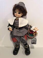 Brinn's Calendar Clown November Limited Edition 1986 Doll With Tags Thanksgiving