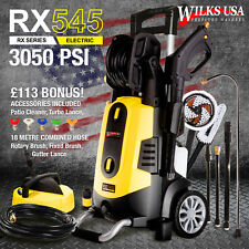 Wilks-USA Electric Pressure Washer 3050 PSI / 210 BAR Power with Patio Cleaner