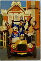 WALT DISNEY WORLD Where's The Fire Police Chief Goofy Engine Co. Photo Postcard