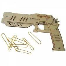 DIY Wooden Rubber Band Pistol Gun Education Kit Toy Machine Maverick POWER SHOT