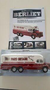 "CAMION BERLIET - N°12 - Berliet GBM 15 Fourgon ""Paris-Bretagne"" - 1/43"