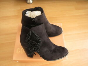 Court Couture Ladies Black Suede Ankle Boots  Size 6