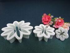 Set of 3 pcs Daisy Flower Cutters Sugarcraft Cake Decorating Free 1st Class Post