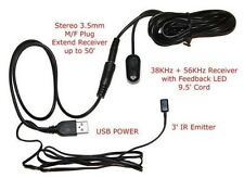Amplified IR Repeater/Extender Kit.  USB Powered.  Extendable length