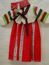 Korean Traditional Costume Hanbok Girls 4 pieces hand made--Size 3-4- headpiece