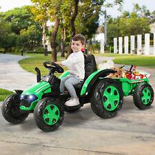 Kinder Aufsitztraktor Elektrotraktor 12V Traktor+2,4G Fernbedienung& Anhänger