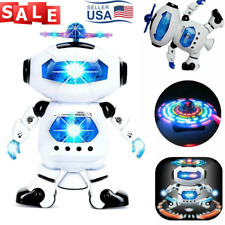 Dancing Robot Toys W/ Musical Light For Boys Kids Toddler Birthday Xmas Gift US