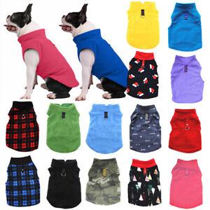 Pet Dog Fleece Jacket Jumper Winter Coat Puppy Chihuahua Warm Sweater Clothes