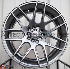 17X9 F1R F18 WHEEL 5x100/114.3 +25MM HYPER BLACK RIM FITS SCION TC 2005-2010