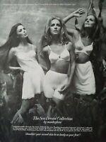 1969 women's Maidenform Sea Dream Collection slip girdle bra vintage fashion ad