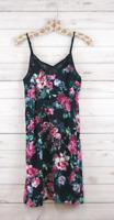 New Xhilaration Sleeveless Sexy Short Floral Print Slip Dress Black Womens S,M