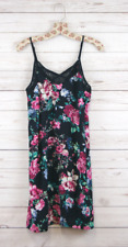 New Xhilaration Sleeveless Sexy Short Floral Print Slip Dress Black Womens S,M