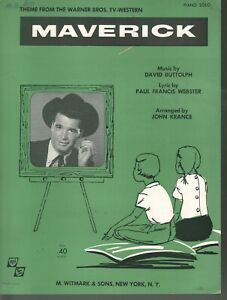 Maverick (easy piano) 1958 James Garner Maverick Television Show Sheet Music